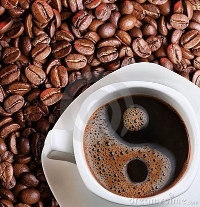 Foam In A Cup Of Coffee Stock Photo - Image: 13779790