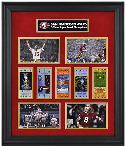 San Francisco 49ers Framed Super Bowl Replica Ticket & Photo Collage – Fanatics Authentic Certified – NFL Ticket Plaques and Collages