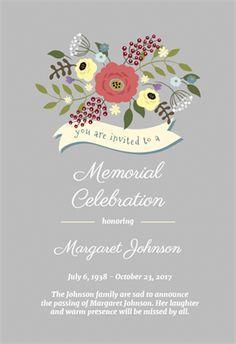39 Best Funeral Reception Invitations | Receptions, Invitations ...