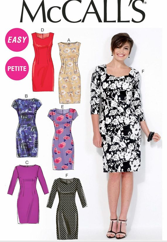 Misses Dress Pattern Classic Dress Pattern Sheath Dress by blue510