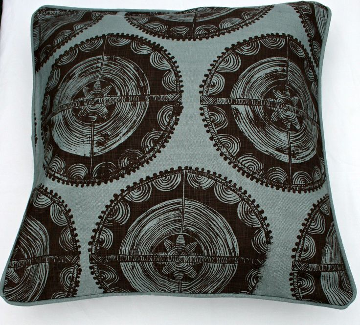 This is our Ivory , screen printed cushion. Sells at $49.00 size 45 x 45 cm.