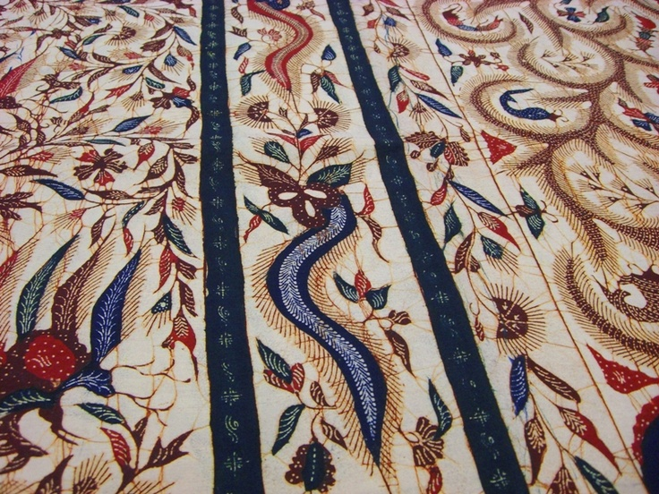 The Master Piece of Batik Madura, Gentongan Batik. Batik Tulis cotton sarong from Madura, Indonesia (hand drawn).