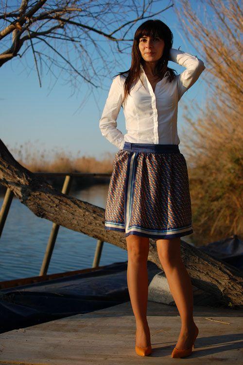 falda con un pañuelo, recomendable blog con ideas y tutoriales