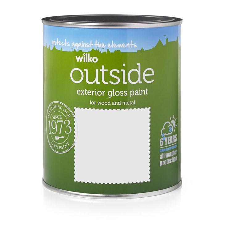 Wilko Exterior Gloss Paint Pure Brilliant White 750ml