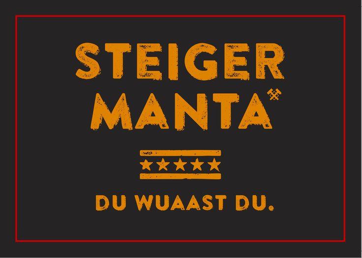 Steiger Manta Du Wuaast du Outdoor Aufkleber Auto Sticker Ruhrgebiet Ruhrpott