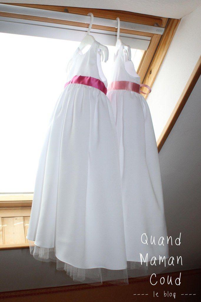 robes de bapteme des jumelles quand maman coud quand maman coud blog maman coudre et robe. Black Bedroom Furniture Sets. Home Design Ideas