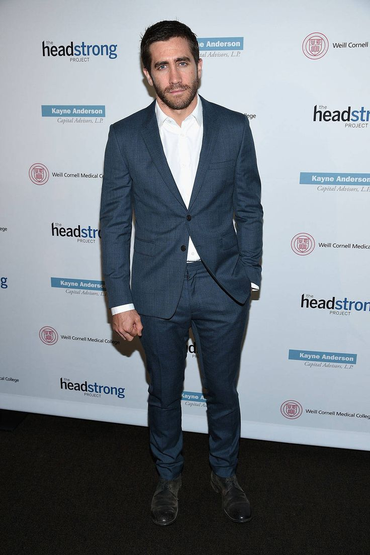 Jake Gyllenhaal is our poster boy for the smart causal look, rarely seen in a tux, never in a three-piece suit and always without a tie. Pictured: At the Headstrong Project benefit  Getty Images  - HarpersBAZAAR.com