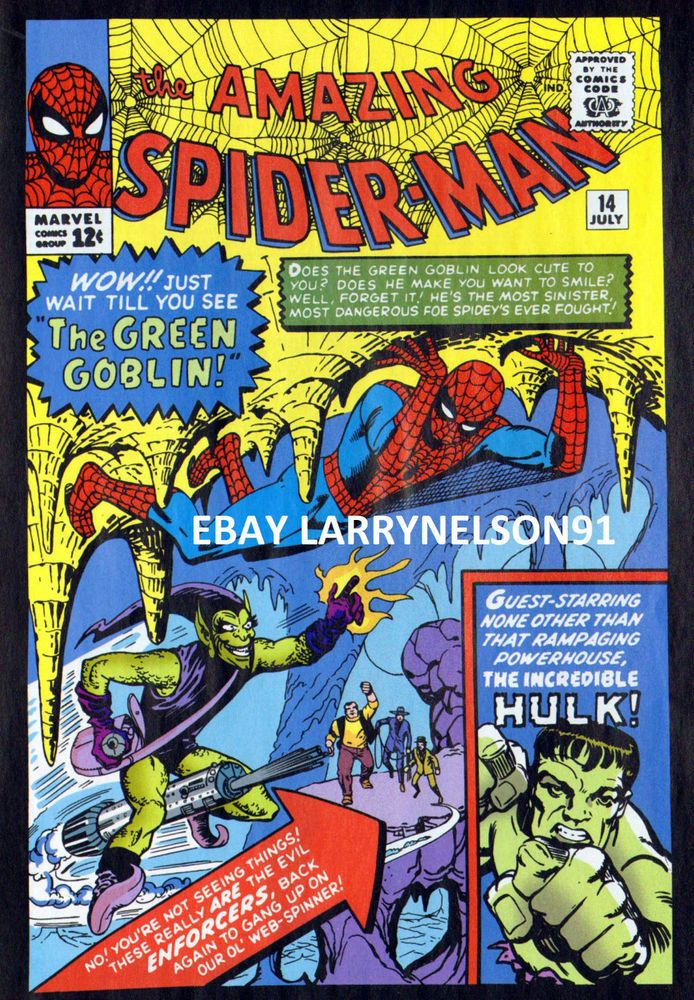 AMAZING SPIDER-MAN #14 POSTER GREEN GOBLIN ENFORCERS INCREDIBLE HULK OSBORN RARE