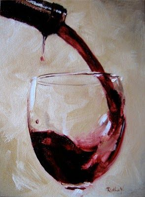 BACKGROUND **    Ruthie V. Fine Art & Murals: Wine Glass                                                                                                                                                     More