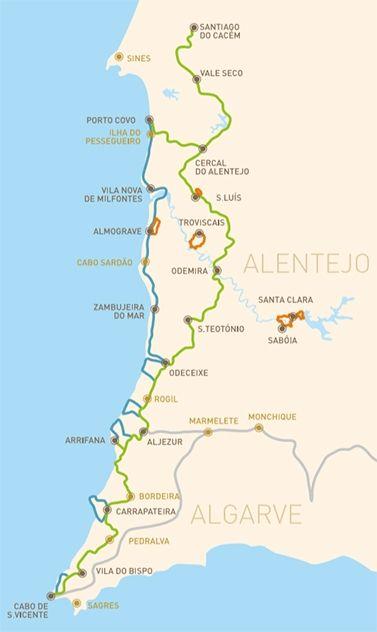 A Rota Vicentina é uma rede de percursos pedestres no Sw de Portugal, totalizando 400 km. Descubra Portugal a caminhar em trilhos inteiramente sinalizados.