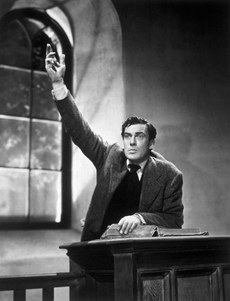 Still of Walter Pidgeon in How Green Was My Valley