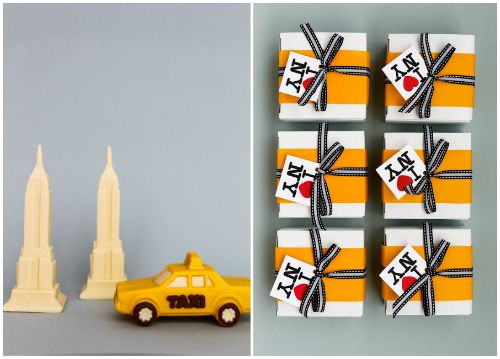 NYC themed wedding favors. Photo: Donna Newman for Martha Stewart Weddings