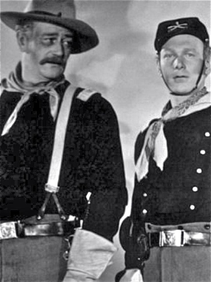 John Wayne and Harry Carey jr