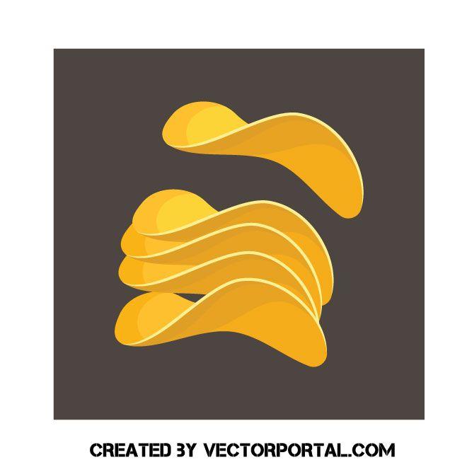 Potato Chips Clip Art Free Vector Image Clip Art Vector Free Potato Chips