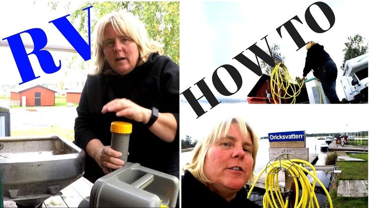 HOW TO dump Toilet and fill up freshwater FAST and Easy in an RV or Moto...