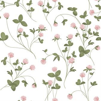 The digital Clover wallpaper from Photowall keeps the best of summer alive, year round. The adorable pattern was designed by Lena Skilles and displays blooming clover. The romantic wallpaper is great for the kids room, living room or bedroom. The pattern is printed on durable premium Photowall wallpaper, which is scratch-proof and easy to clean. The wallpaper is delivered as numbered panels which are easily mounted by pasting them side by side. The applicable wallpaper adhesive is included.