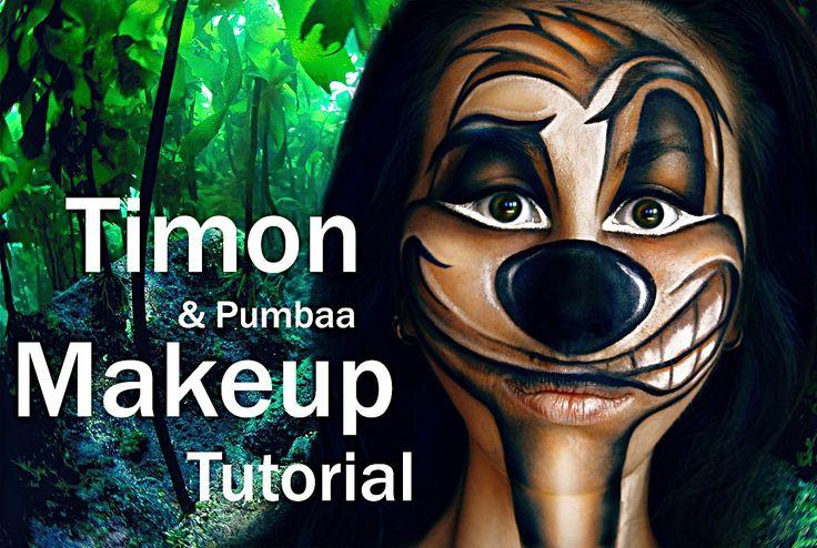 TIMON (& Pumbaa) Makeup Tutorial by MARGO
