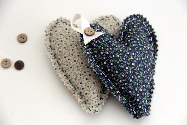 Twill & Twee:  Lavender Hearts A wedding favour, a stocking fill...