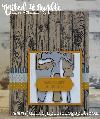 Julie Kettlewell - Stampin Up UK Independent Demonstrator - Order products 24/7: Nailed It Bundle