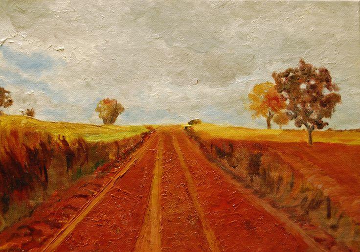 Road near Zamora Spain, oil, njhess