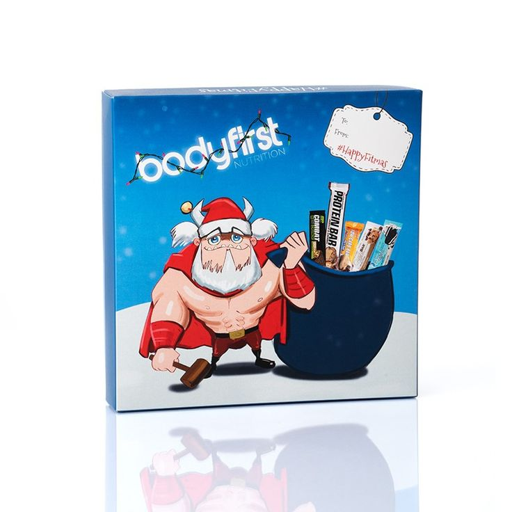 Christmas Selection Box digitally printed by esmark finch for Bodyfirst Nutrition