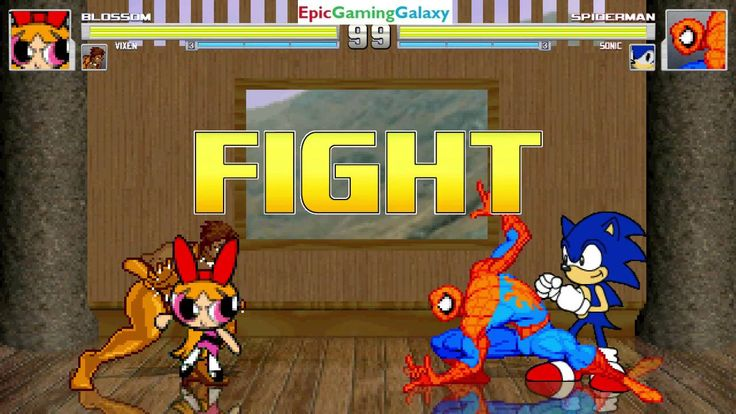 Sonic The Hedgehog & Spider-Man VS Blossom The Powerpuff Girl And Vixen In A MUGEN Match / Battle This video showcases Gameplay of Vixen The Superheroine And Blossom The Powerpuff Girl From The Powerpuff Girls Series VS Sonic The Hedgehog And Spider-Man The Superhero In A MUGEN Match / Battle / Fight