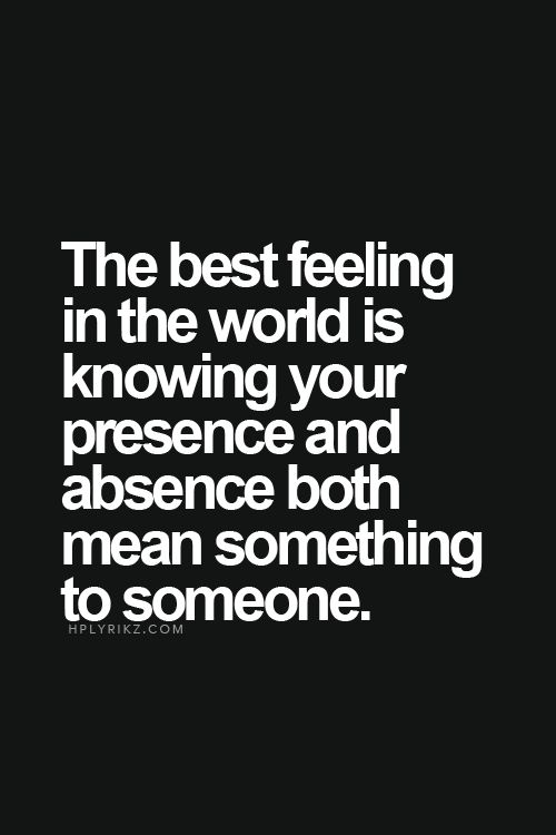 The best feeling in the world...