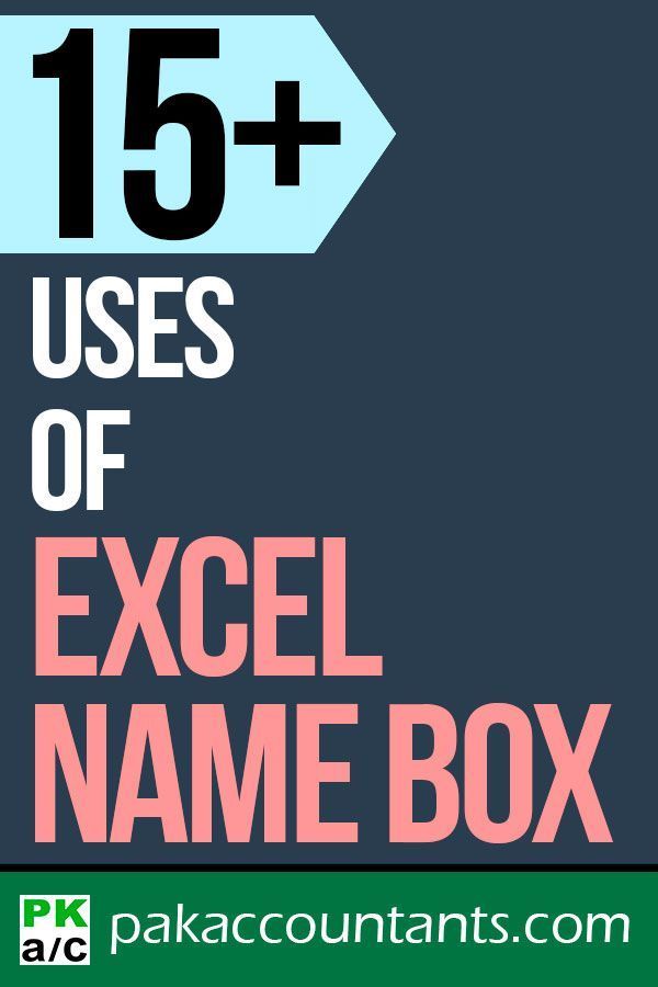15+ uses of Excel name box Free Excel tips and tricks Excel