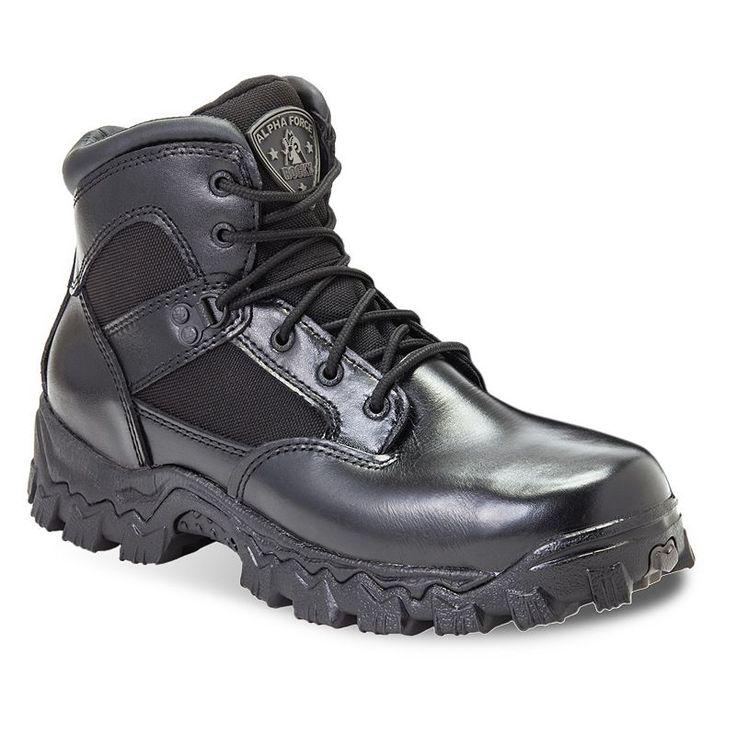 Rocky AlphaForce Men's 6-in. Waterproof Duty Boots, Size: medium (10.5), Black