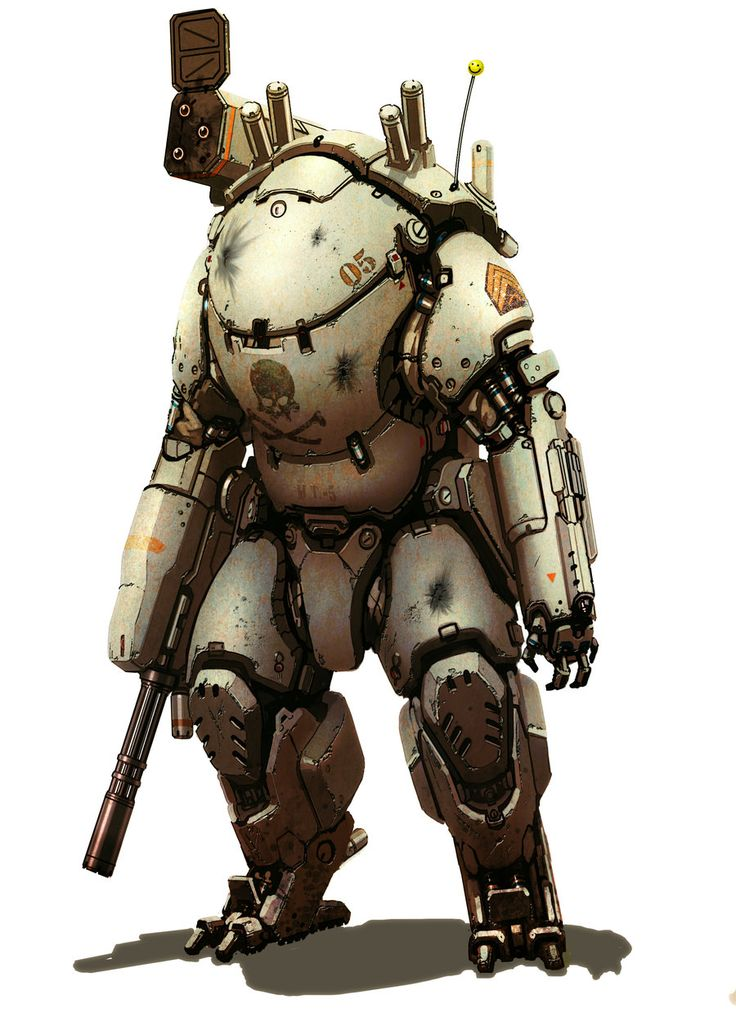 Mech suit by ~flyingdebris on deviantART  Absolutely love this. So much character yet not even a face. Brilliant!