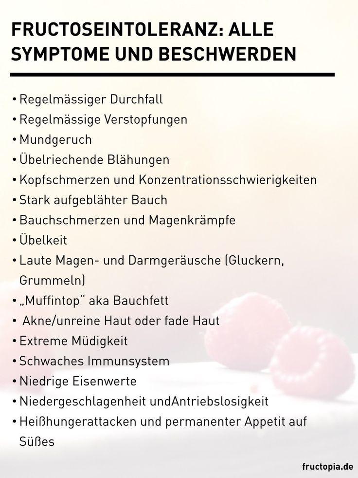 Fructoseintoleranz: Alle Symptome Und Beschwerden auf einen Blick #fodmap #Blähungen #Durchfall #Stimmungsschwankungen #Müdigkeit #Intoleranzen #Unverträglichkeiten