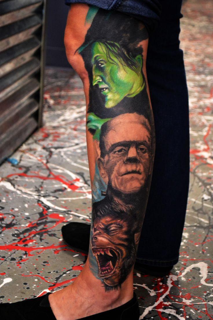 Horror sleeve in progress #tattoo #tattoos #tattoomagazine #fkiron #formula51 #h20cean