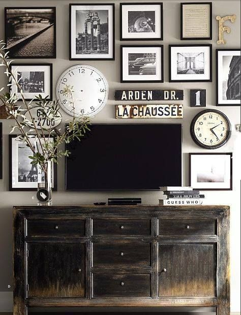 Does your flat screen TV look like a black blob on your wall? Why not include it in a beautiful wall grouping? Surround your TV with custom framed art that fits your style.