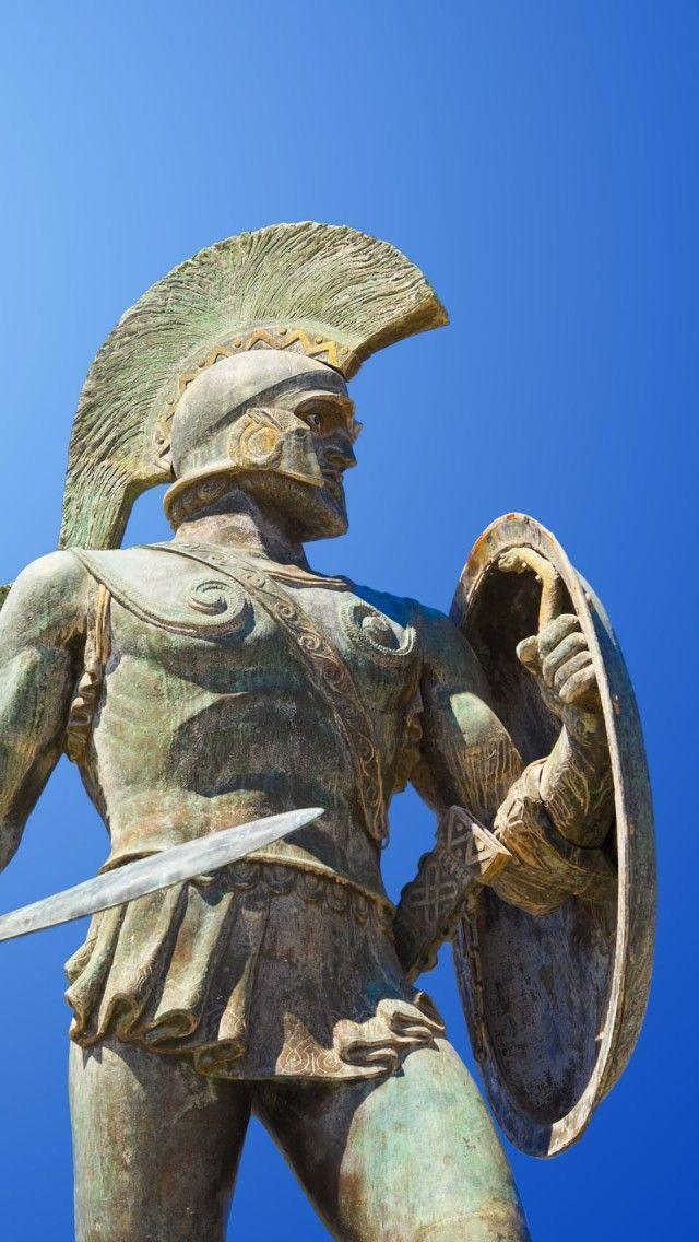 Ancient History Greece -                                                              King Leonidas Statue Sparta Greece