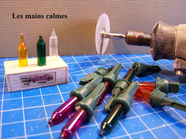 calm hands: Make small wine bottles