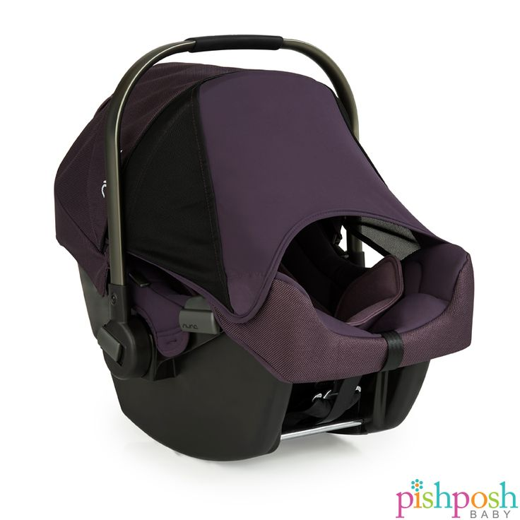 PIPA, the infant car seat from NUNA, is loaded with safety features, with chic design detail that we ♥. The hidden Dream Drape extendable canopy keeps sun and wind away from baby, and stays put with magnets. Pairs with any Nuna stroller for the ultimate travel system! Available in 8 colors (shown: Blackberry) Priced from $299.95.  http://www.pishposhbaby.com/nuna-pipa-infant-car-seat-w-base1.html