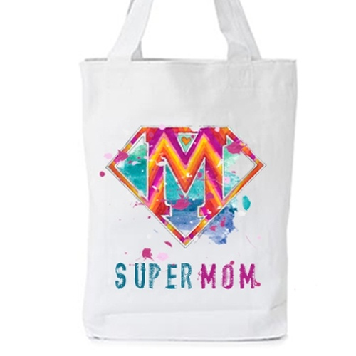 supermom totebag  The perfect gift for mother's day or even your mother's birthday!    with original artwork by Caroline Rovithi (www.caroline.gr)        WHITE ORGANIC FASHION TOTE BAG - Climate Neutral®    100% Organic Cotton Twill Weave 170 g / 5.1 oz.    ONE SIZE : Width 36 x Height 42 x Depth 8 cm    20,00 €