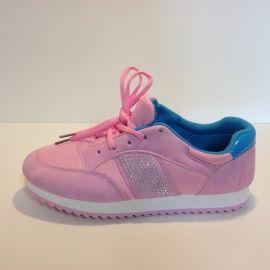 Sneaker met studs en strass Roze | Schoenen / Riemen / Tassen en accessoires | ladies fashion yess-style