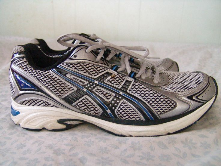 Asics Mens Gel Kanbarra size 8 Blue Running Athletic Shoes #ASICS  #RunningCrossTraining