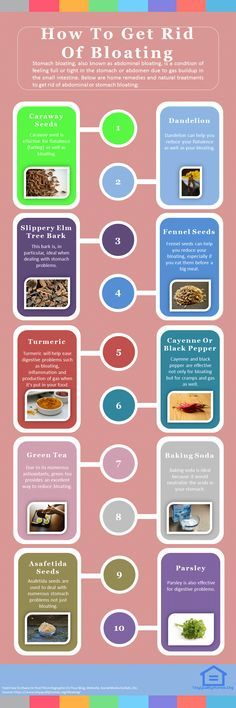 How To Get Rid Of Bloating – 30 Home Remedies #detoxinfographic