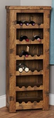 Hatfield Sawn Oak Wine Rack 1