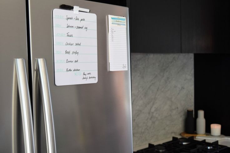A whiteboard planner and magnetic shopping list are simple ways to make meal prep easier! Reduce the amount of times you race to the shops, saving you time, effort and money.