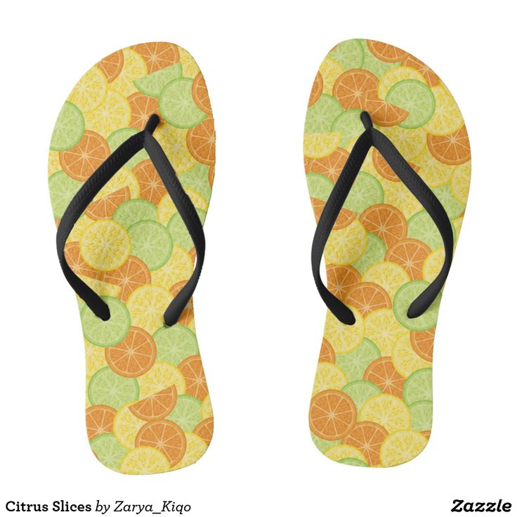 Citrus Slices  - a citrus inspired pattern in flip flops