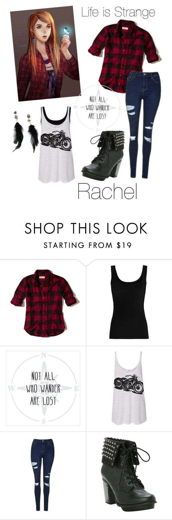 """Life is Strange : Rachel"" by harper-smith ❤ liked on Polyvore featuring Hollister Co., Twenty, Topshop and Betsey Johnson"