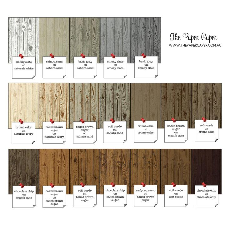 Colour combinations for Stampin' Up!'s Hardwood background stamp. Details @ www.thepapercaper.com.au