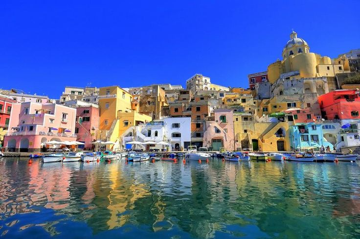 Procida , Marina Corricella from the sea