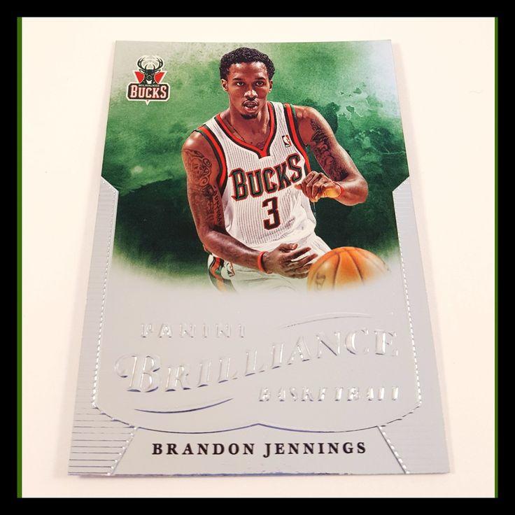 Brandon Jennings Basketball Card (2012-13 Panini Brilliance)