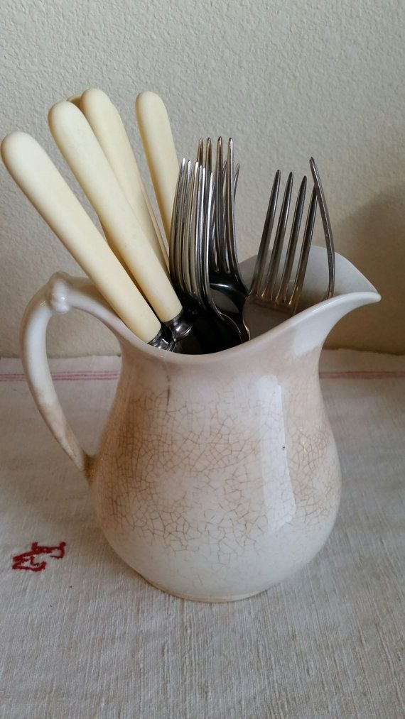 Vintage Set of 12 Faux Bone Handled Knives and Forks by FARMHOUSE1711