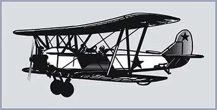 Учебный самолет У-2 (По-2) конструкции Н.Н.Поликарпова.
