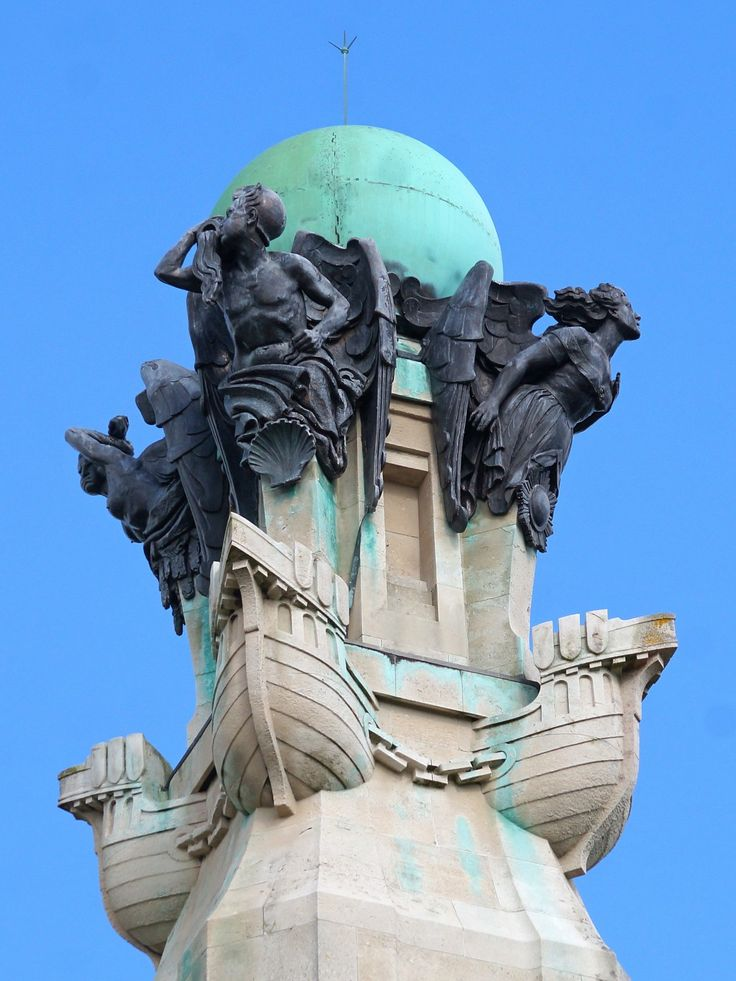 The top of the War memorial, Plymouth Hoe.